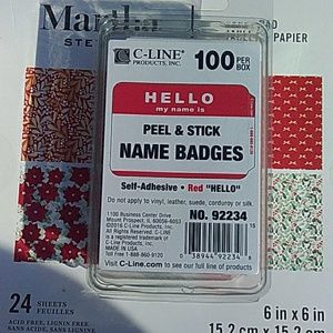 Hello My Name Is...  100 Count package